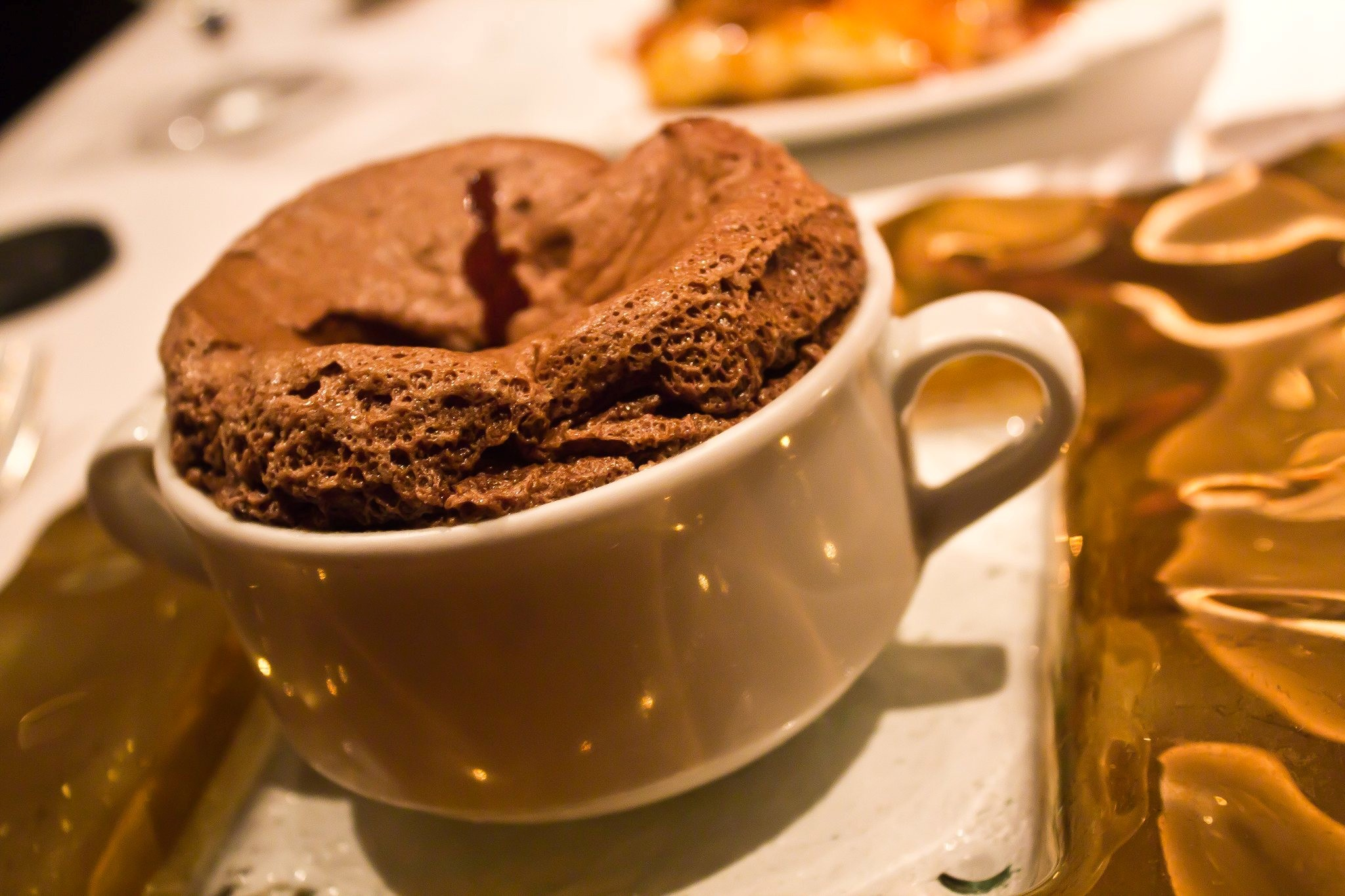 Course 4: Baked Chocolate Soufflé