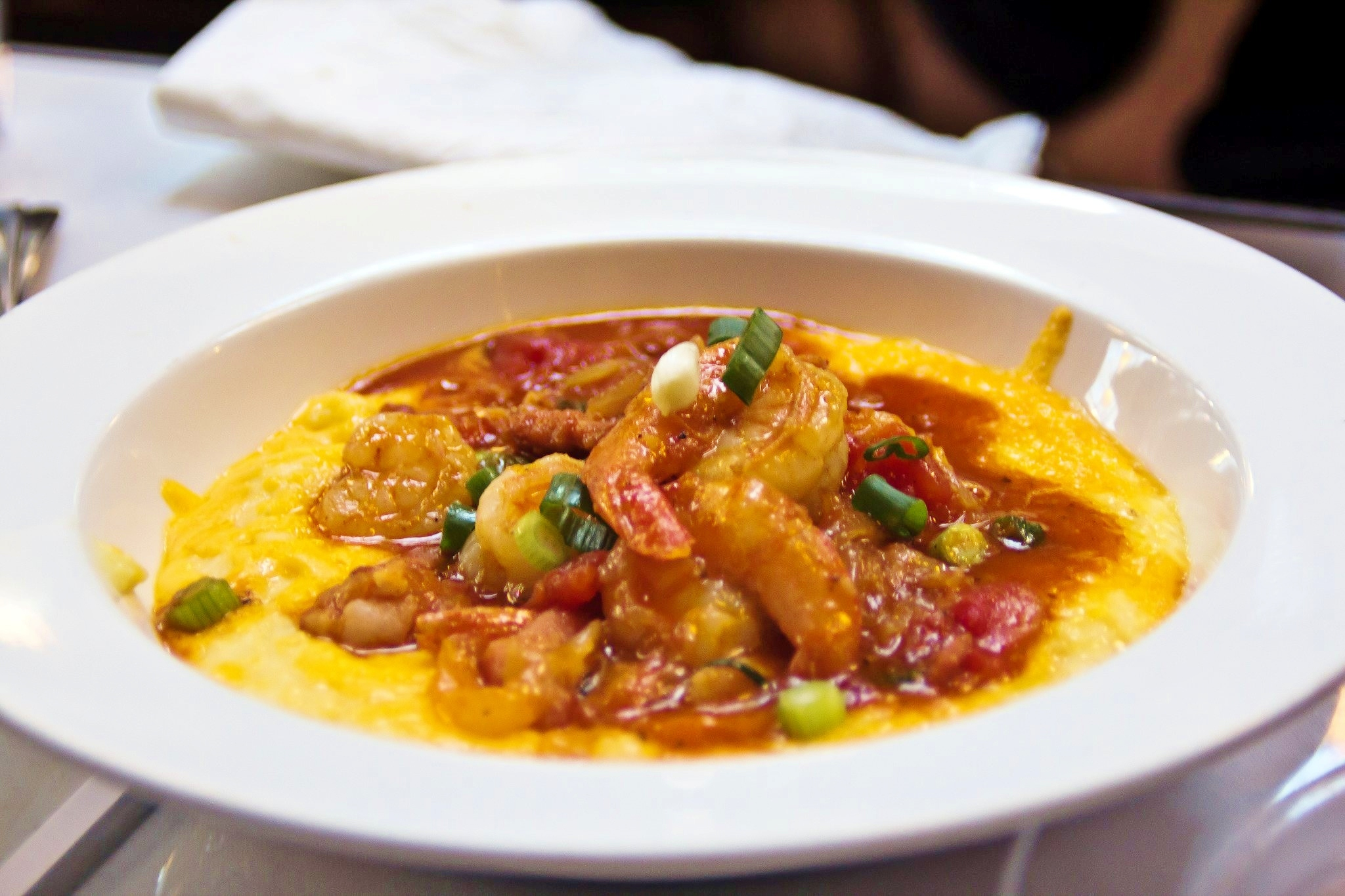 shrimp and grits with red all over and then hightail shrimp and grits ...
